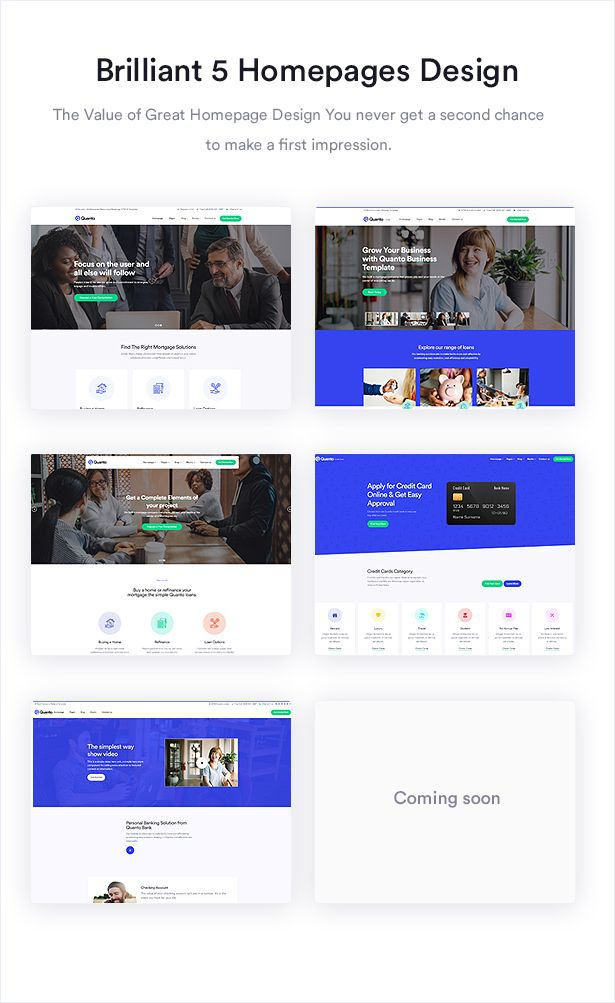 Quanto Creative Multipurpose Responsive Html Template Homepage Design Business Website Templates Professional Website Templates