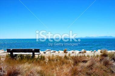 Seat on Marahau, Abel Tasman National Park, New Zealand Royalty Free Stock Photo