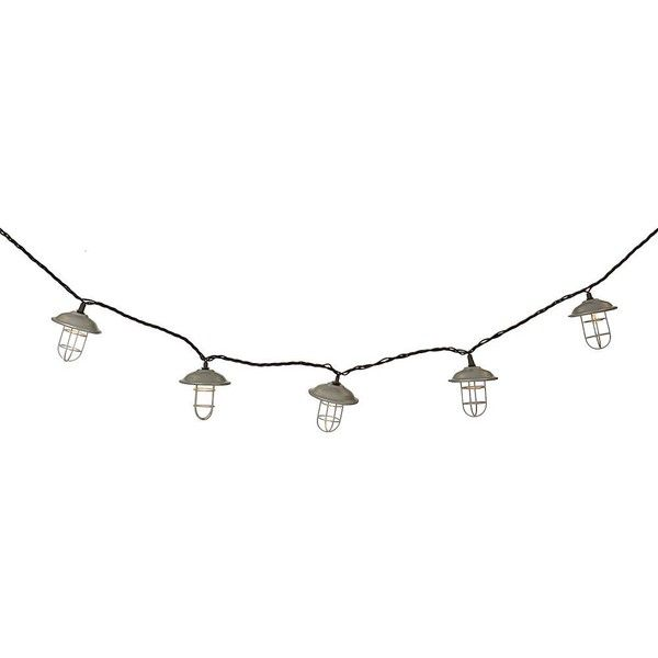 Silver Cage String Lights ($17) ❤ liked on Polyvore featuring home, outdoors, outdoor lighting, outside patio lights, outdoor light string, outdoor party lights, outdoor string of lights and black outdoor lights