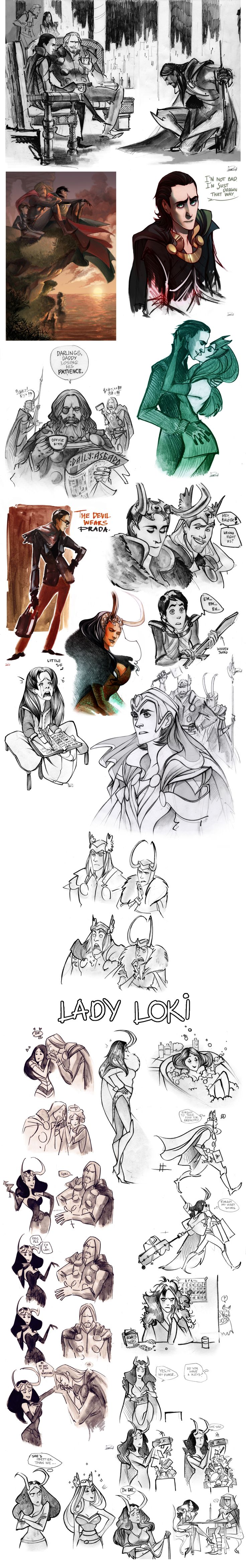 Loki and Thor. Sometimes i cry when i see phobs' art...ITS SO BEAUTIFUL *SOBS IN CORNER*