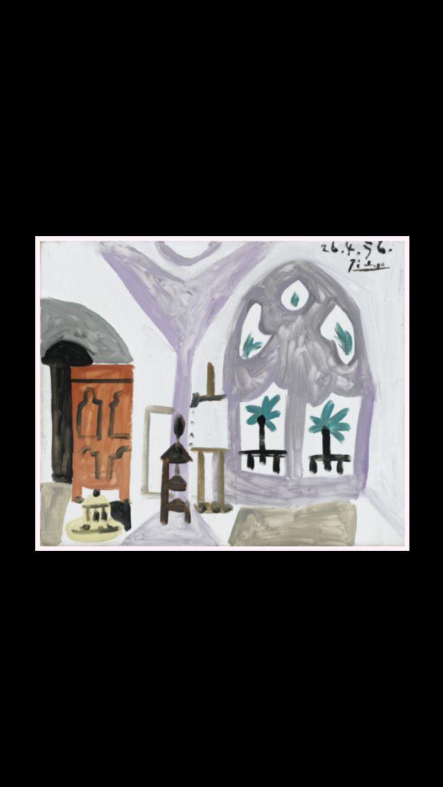 """Pablo Picasso - """" L'Atelier """", 26 IV 1956 - Huile sur toile - 46 x 55 cm (..)"""