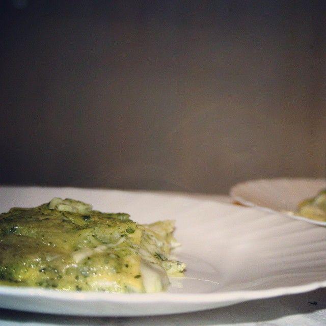 Lasagne con crema di zucchine e scamorza affumicata, ricetta completa su aroundk.wordpress.com