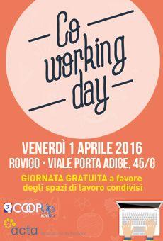 Coworking Day  - Giornata gratuita a favore degli spazi di lavoro condivisi. Tutti i tuoi eventi su ViaVaiNet, il portale degli eventi più consultato per il tempo libero nella provincia di Rovigo e nella Bassa Padovana