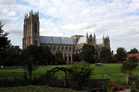 Beverley Minster, Beverly; Yorkshire.   The town of Beverley grew up around the minster church and received its first charter in 1129. Beverley was incorporated as a borough in 1573 during the reign of Elizabeth I and was a place of great importance and wealth.