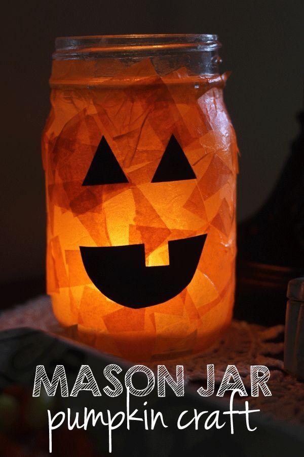 Halloween Craft : Mason Jar Pumpkin by alfreda