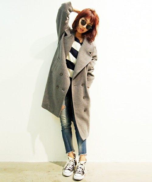【セール】【Casual】ミドル丈ルーズPコート(ピーコート)|Ungrid(アングリッド)のファッション通販 - ZOZOTOWN