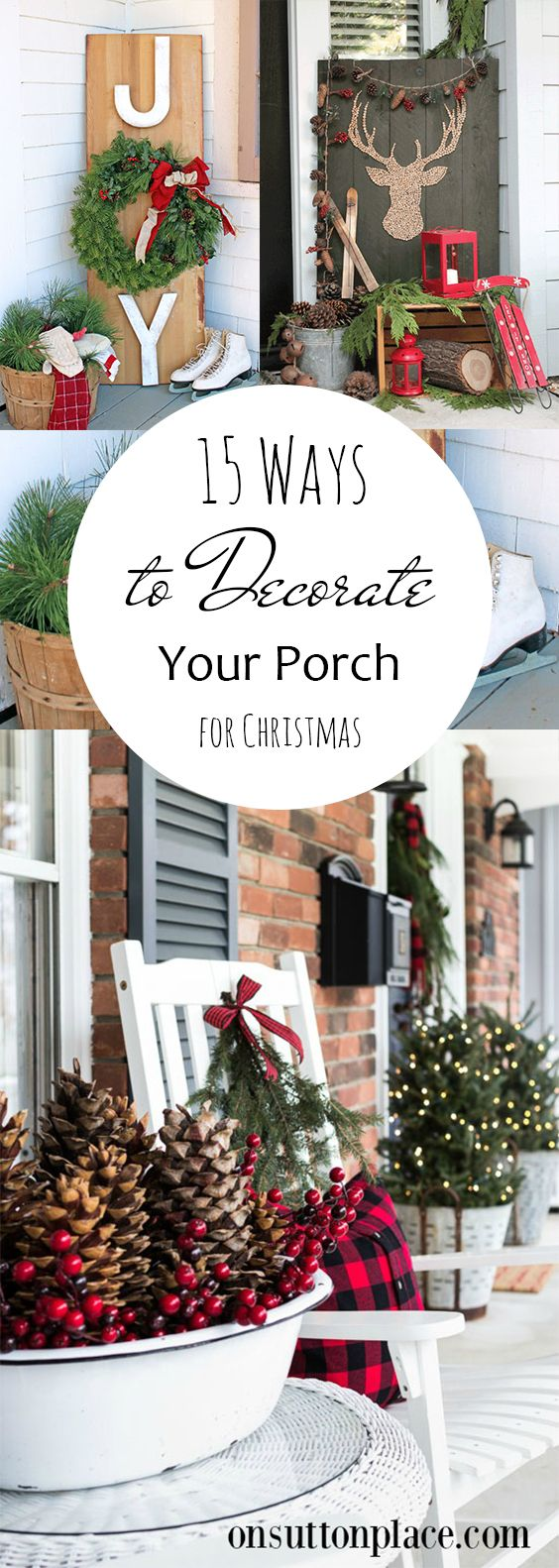 Porch Decor, Porch and Patio, Christmas Curb Appeal, Holiday Porch Ideas, Christmas Porch Decoration, Popular Pin, How to Decorate Your Porch, Christmas Porch