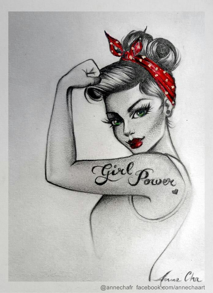 Pinup Representing Girl Power