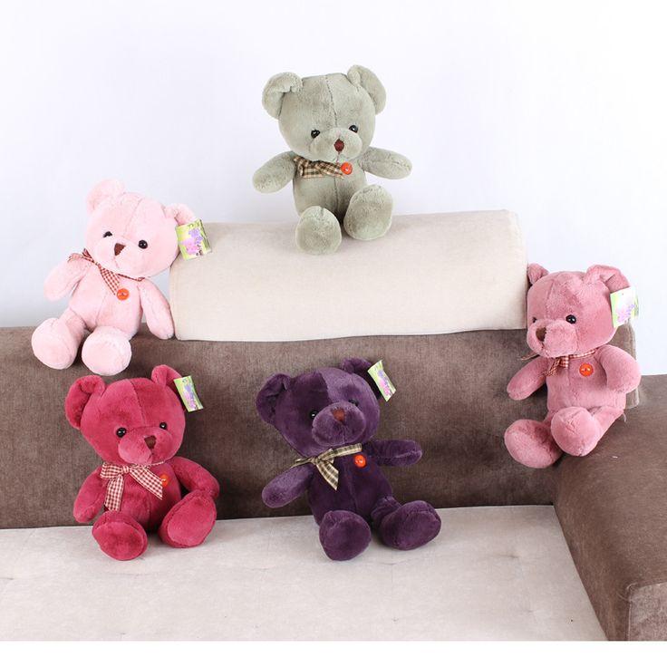 25cm teddy bear doll doll plush toys birthday holiday gift free shipping KINYOUBI