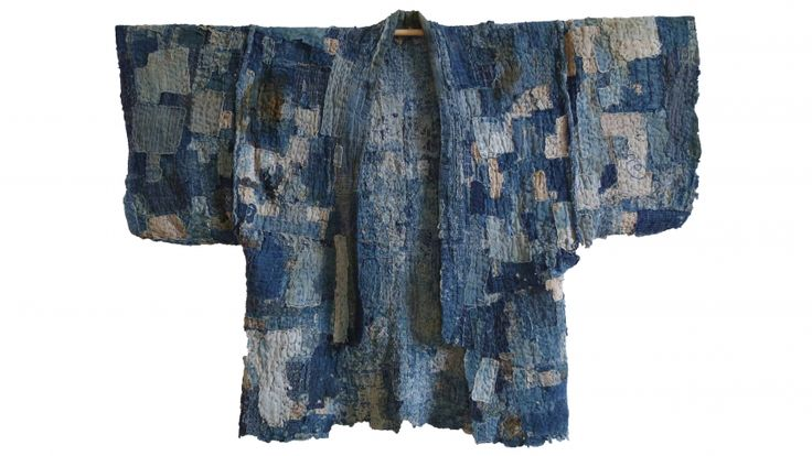 Boro: This is a patched work coat, or noragi, that likely never began as a full garment, but was rather made from multiple, very small patches — some of them the size of a postage stamp — that were all sewn together to create an area of cloth, and then layered. Credit: Stephen Szczepanek of Sri Threads