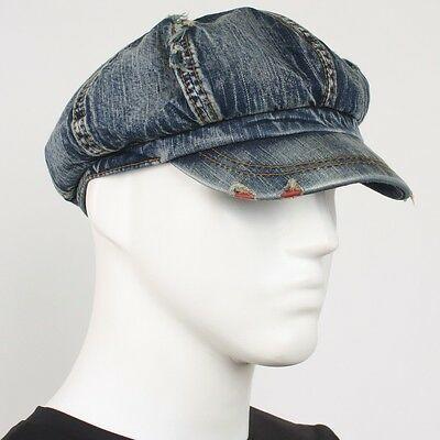 93eee525e Sponsored)eBay - Vintage SK Jean Hat Unisex Denim Gatsby Applejack ...