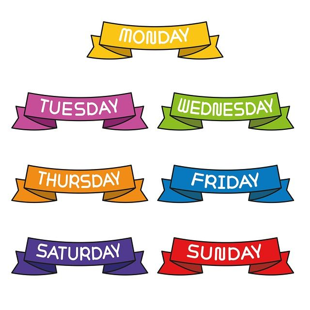 Hashtags For Each Day Of The Week To Increase Your Page Traffic Back Up My Tweets Monday Morning Inspiration Education Clipart Clip Art