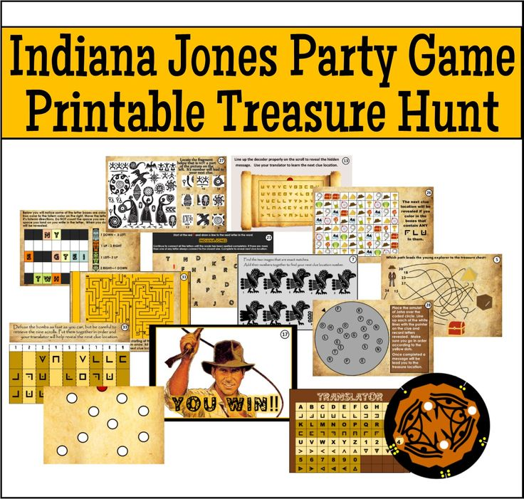 Our printable Indiana Jones treasure hunt is perfect for your little explorers birthday - this hunt can be played anywhere because YOU choose the hiding locations.