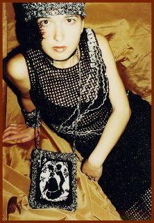 uncinetto moda e fantasia: vestito da sposa retro in lurex nero e filo tessut...