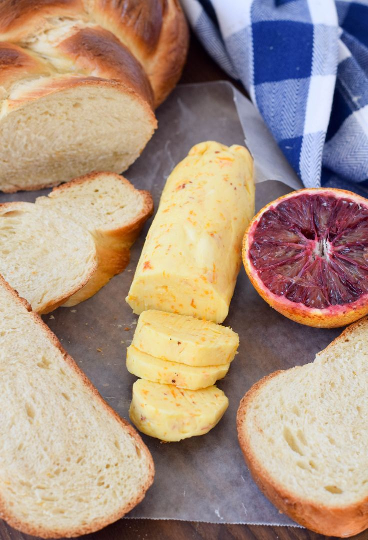 Orange Cardamom Challah with Orange-Honey Compound Butter is a citrus-lover's dream breakfast.