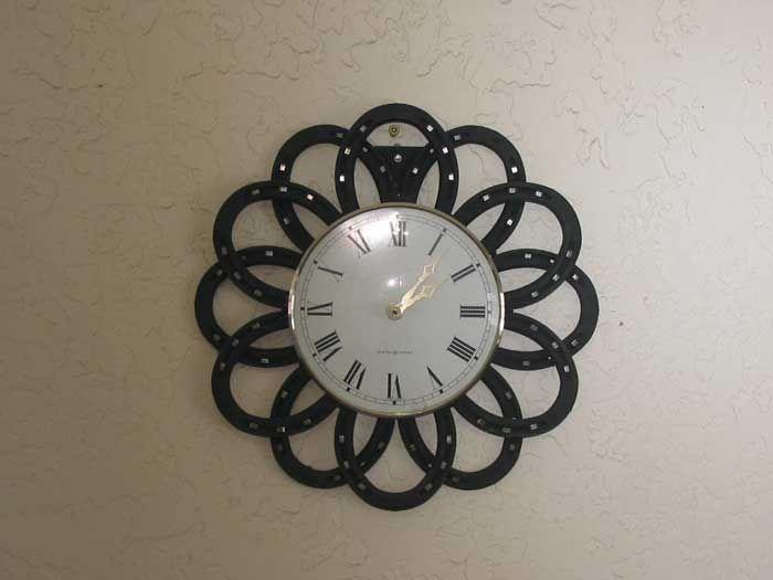 Image Detail For  Small Wall Clock Custom Metal Horseshoe Art Small Wall  Clocks