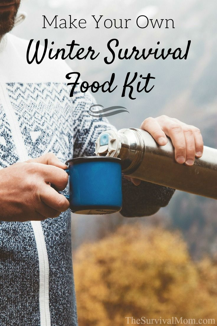 This handy plan for a Winter Survival Food Kit will give you many options for hot beverages and warm, simple meals. #wintersurvival #emergencypreparedness