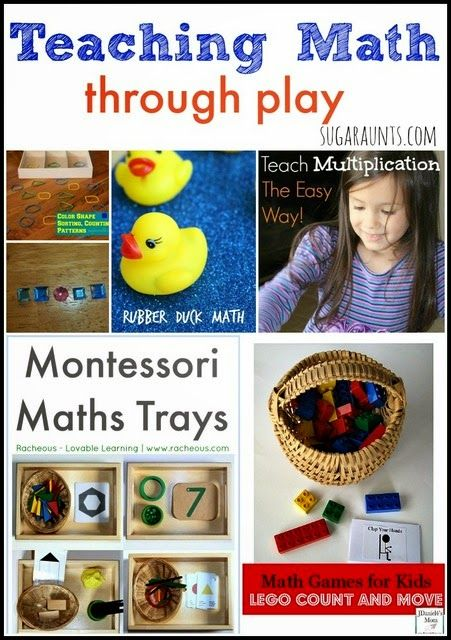 Playful ways to teach math. Kids love learning math concepts through play. So many great ideas!