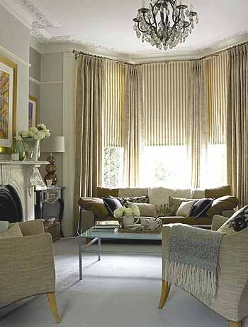 Classic Neutral Living Room Gray Walls Blended With Soft
