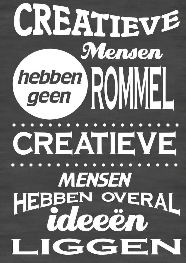 Bekijk de foto van VanEtje met als titel Tekstbord creatieve mensen hebben geen rommel creatieve mensen hebben overal ideeën liggen.    Chalkboard Typography by VanEtje en andere inspirerende plaatjes op Welke.nl.