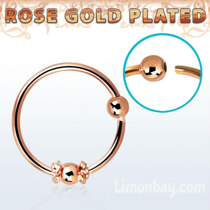 Aro para piercing de nariz estilo balinés en oro rosa: https://www.limonbay.com/aro-de-nariz-oro-rosa-estilo-balines *