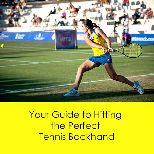 The Tennis Backhand Stroke Is Performed Either With A One Handed Or Two Handed Backhand Grip Start In A Ready Position With Tennis Tennis Lessons Tennis Tips