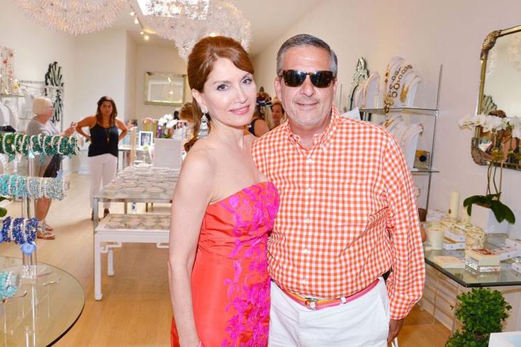 Jean Shafiroff, and Gregory D'Elia attend Cocktails at Sequin Southampton on August 9, 2015 for 'Ellen's Run'