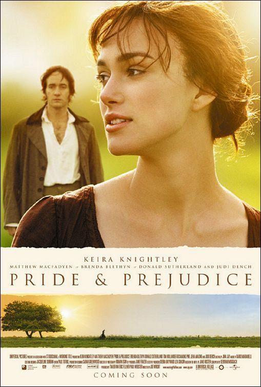 Orgullo y prejuicio (2005) - Joe Wright.  Magnifica banda sonora de Dario Marinelli.  Mejor que el libro.