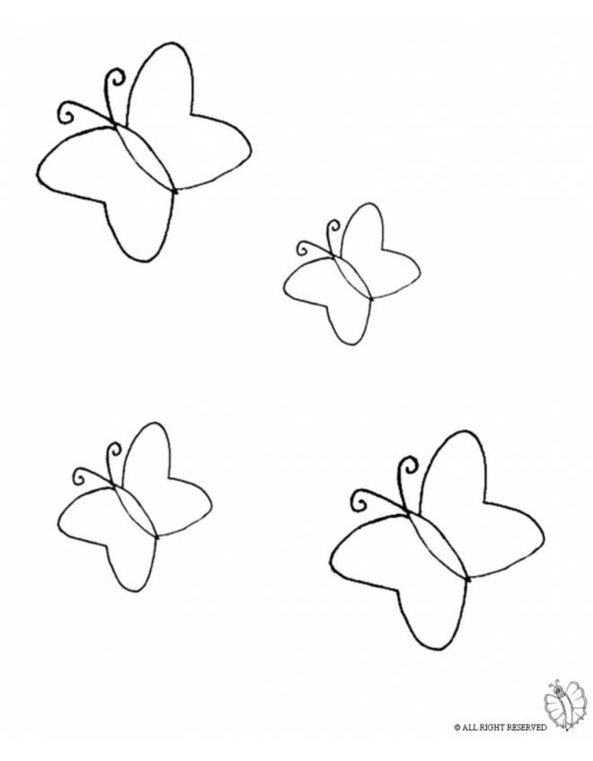 Disegno Di Farfalle Da Colorare Per Bambini Nel 2020 Disegni Da Colorare Disegni Disegno Per Bambini