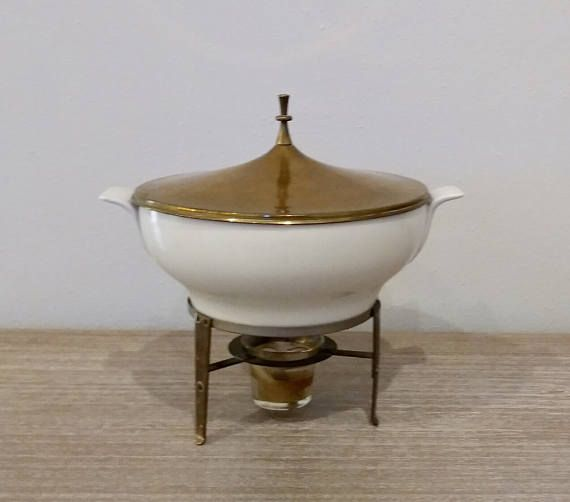Midcentury Ernest Sohn Creations  chafing dish rare Ernest