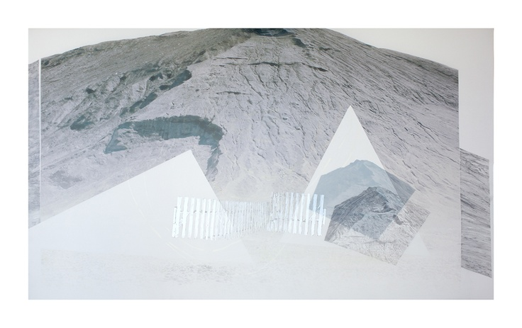 Haldes 3  graphite et impression numérique sur papier Mylar.  2012   Cara Déry  #art
