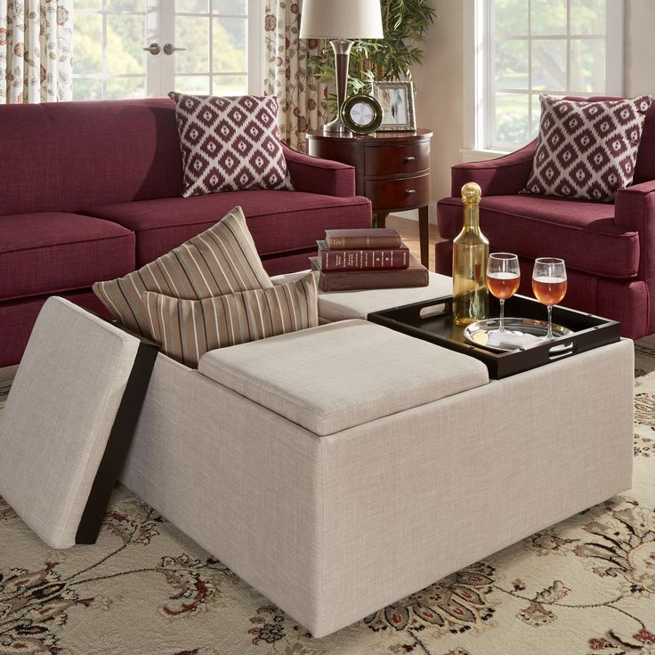 166 best MY LIVING ROOM - OTTOMAN, COFFEE TABLES images on - living room ottoman