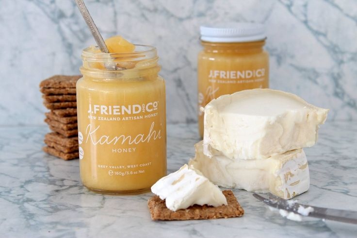Sometimes it's the simple things in life that make us the most happy - J.Friend & Co Kamahi Honey, Bonnie Goods Oatcakes & Creamy Camembert Cheese !