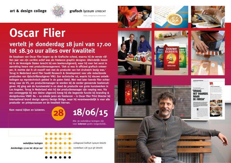 Gratis lezing 18 juni a.s. 17.30-18.00 uur door Oscar Flier over kwaliteit. Collegezaal GLU, Vondellaan 178 Utrecht