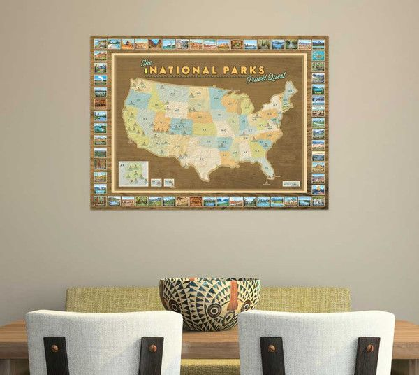 ON A QUEST TO VISIT ALL 59 NATIONAL PARKS? This unique National Parks Travel Quest Map displays all of our National Park locations in a one-of-a-kind map set. P