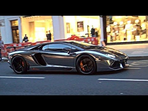 BLACK CHROME Lamborghini Aventador FLAME!