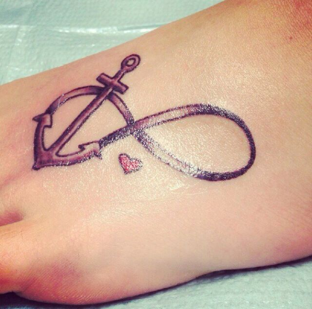 "Infinity anchor represents Hebrews ""Hope anchors the soul"""