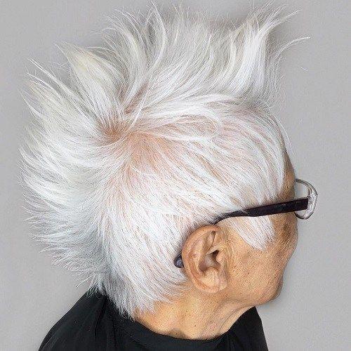 Idées Coupe cheveux Pour Femme  2017 / 2018   17 mohawk pour les femmes âgées