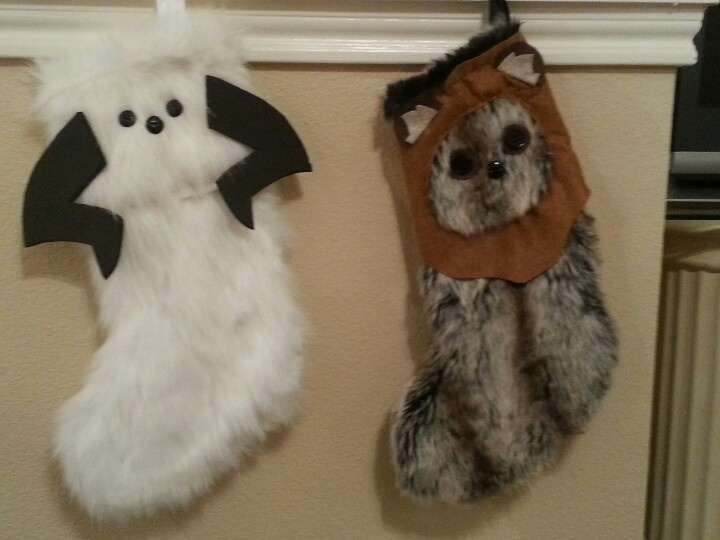 Wampa & Ewok from star wars stockings: