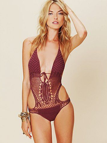 Crochet Monokini  (what's with these names: first came tankini and now there's monokini, what's next????)