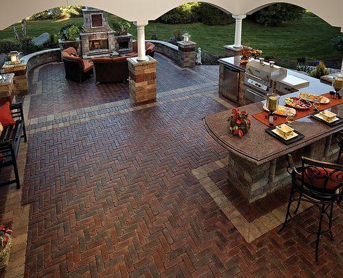 Copthorne patio and kitchen | Unilock North America | Flickr