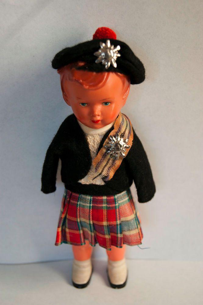 Unique & Rare ANTIQUE German Celluloid Boy Doll  UNUSUAL & SUPER HANDSOME !!!