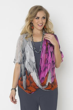 5117 Ombre Feathers Silk Twist Top