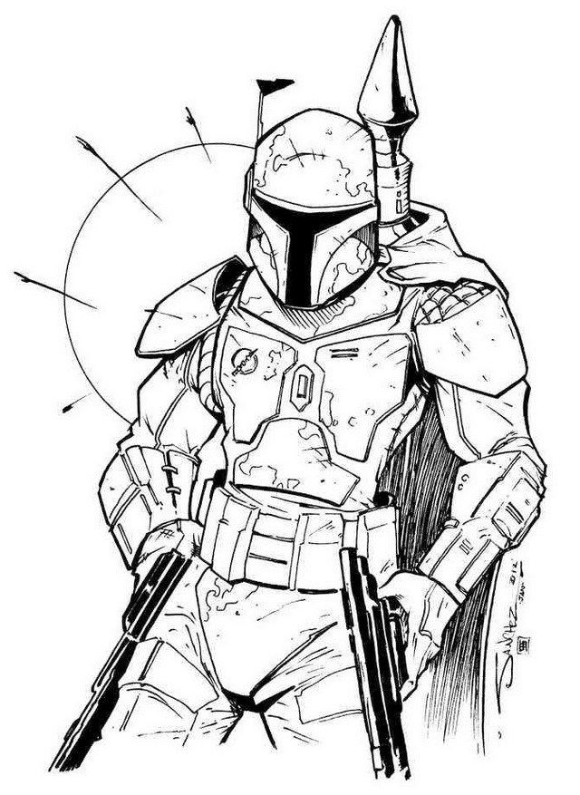 Pretty Awesome Boba Fett Coloring Sheet Star Wars Stencil Star Wars Drawings Star Wars Art