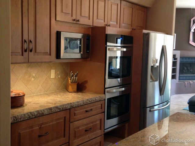Cambridge Maple Caramel Kitchen Cabinets From CliqStudios