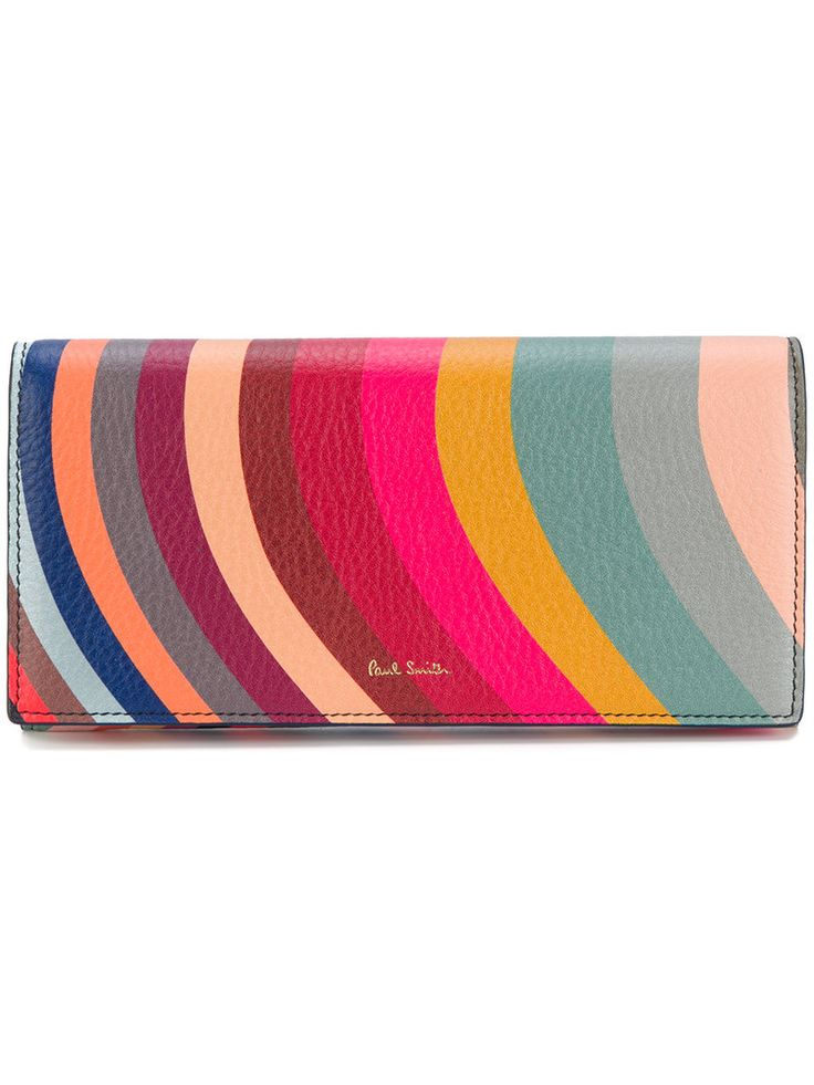 PAUL SMITH PAUL SMITH - 'SWIRL' PRINT LEATHER TRI. #paulsmith #bags #leather #wallet #accessories #