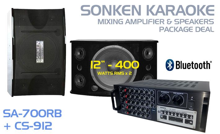 Australia's Best Karaoke Amplifier and Speaker Package Deals with Bluetooth feature so you can stream you music from your tablet and smartphone starting from only $499.99.