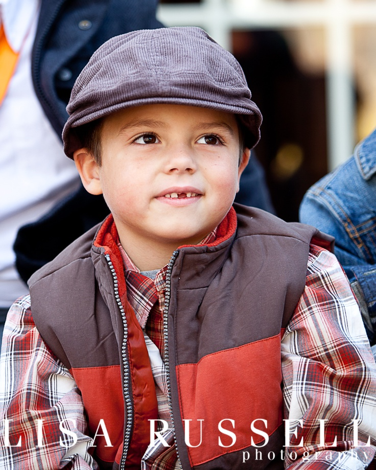 children & families Lisa Russell Photography little boy with big brown eyes, brown hat: Boys Style