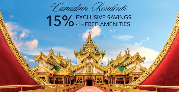 EXOTIC DESTINATIONS FOR YOUR NEXT ADVENTURE As a resident of Canada, you receive exclusive savings of 15% plus amenities. Choose your next adventure from amazing destinations and take advantage of exclusive savings, FREE Unlimited Internet and your selection of an OLife Choice* amenity.
