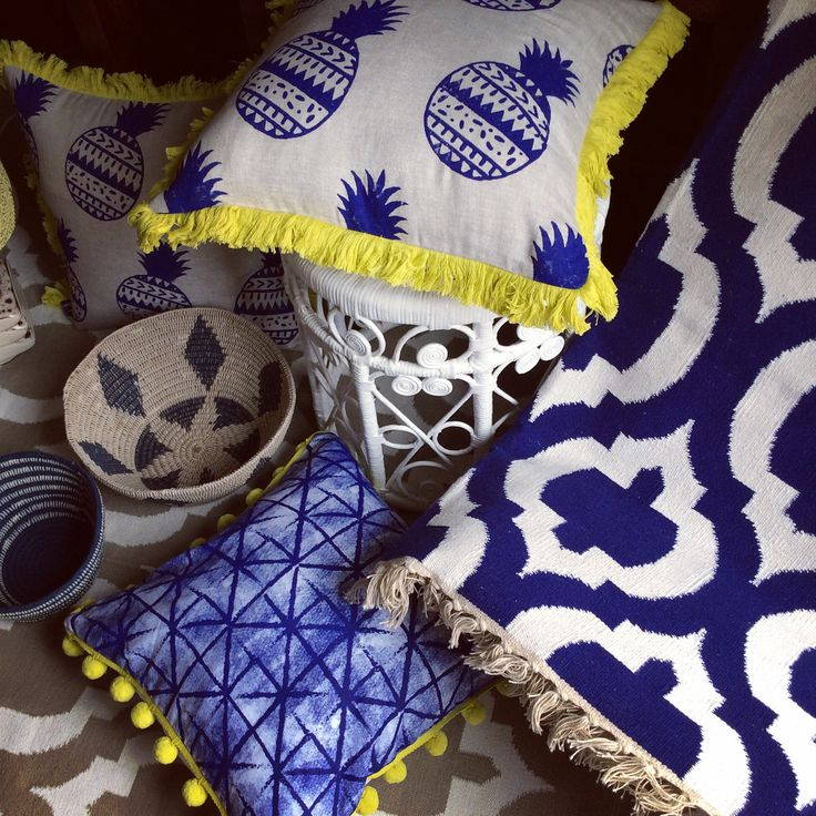 A bit of Indigo love, our indigo pineapple & tribal trellis cushions splashed with w hole lot more of Indigo wares available at Shakiraaz